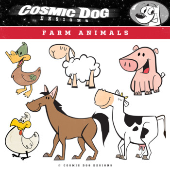 Farm Animals Clip Art Set