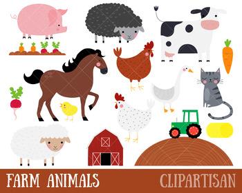 Farm Clip Art, Farmyard Animals