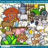 Farm Animals Clip Art - cow, pig, chicken, goat, horse, turkey, sheep, cat, bird