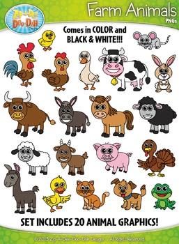 Farm Animals Clipart Set — Includes 40 Graphics!