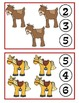 Farm Animals Clothespin Counting Game