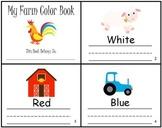 Farm Animals Color Writing Practice Mini Book Reader