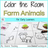 Farm Animals Color the Room
