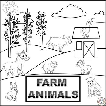 Farm Animals Coloring