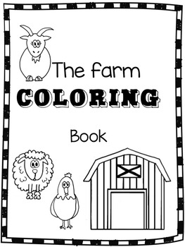 Farm Animals Coloring book by Two Fun Teachers Is Better Than One