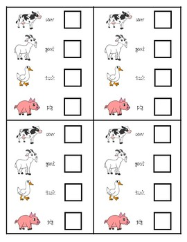 Farm Animals - Comparing Numbers