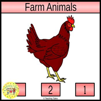 Farm Animals Clip Task Cards