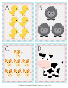 Farm Animals Count the Room