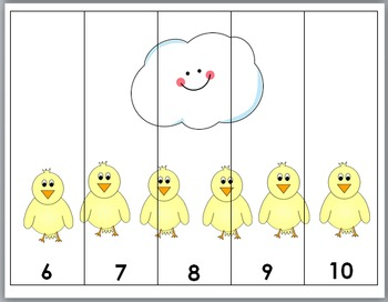 Farm Math - Farm Animals Counting Puzzles - Numbers 1-10