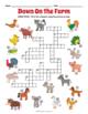 Farm Animals Crossword Puzzle