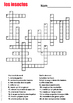 Farm Animals Crossword in French
