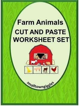 Farm Animals Kindergarten Special Education Autism Cut and Paste Fine Motor
