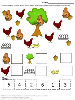 farm animals kindergarten special education autism cut and paste fine motor. Black Bedroom Furniture Sets. Home Design Ideas