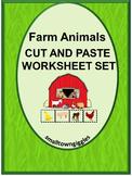 Farm Animals Kindergarten Special Education Autism Cut and