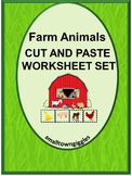 Farm Animals Cut Paste Distance Learning Internet Activities Math Literacy P-K,K