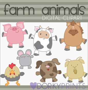 Farm Animals Digital Clip Art