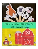 Farm Animals Pretend Play Printables