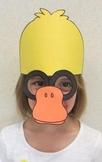 Farm Animals Duck Sentence Strip Hat Mask