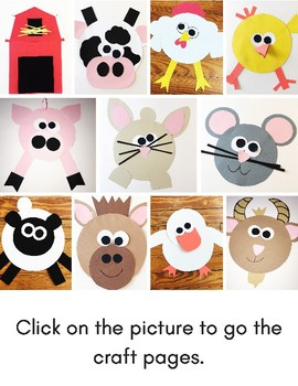 Farm Animals Easy Art: Adapted Art Pack and Writing Activities