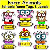 Farm Theme Labels and Name Tags  - Farm Classroom Decor
