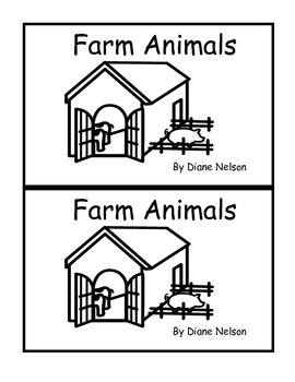 Farm Animals Emergent Reader 0.7 or B