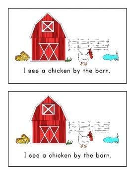 Farm Animal Emergent Reader