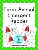 Farm Animal Emergent Reader