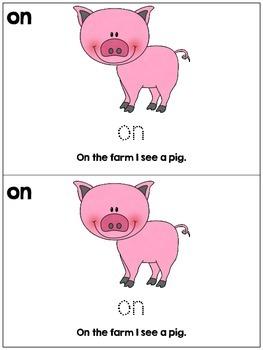 Preschool / Kindergarten - Farm Animal Emergent Reader