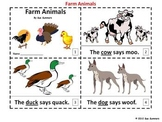 Farm Animals Emergent Readers - 2 Booklets