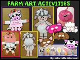 FARM ANIMALS  ART ACTIVITIES- FARM ANIMAL MASKS, FINGER PUPPETS, FARM CRAFTS