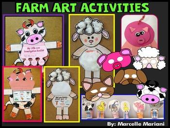 Farm Animals- FARM ART ACTIVITIES- FARM MASKS, PUPPETS, ANIMALS
