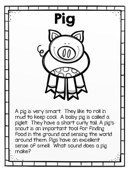 Farm Animals Fact Posters