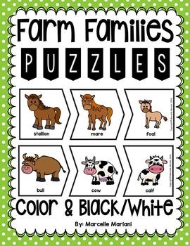 Farm Animals Families Puzzles