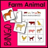 Farm Animal BINGO Game Math Center