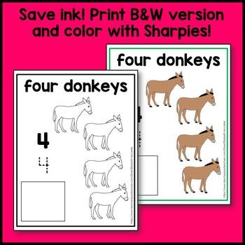 Farm Animal Count and Write Mat Math Center