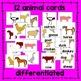 Farm Animal Graphing Card Math Center