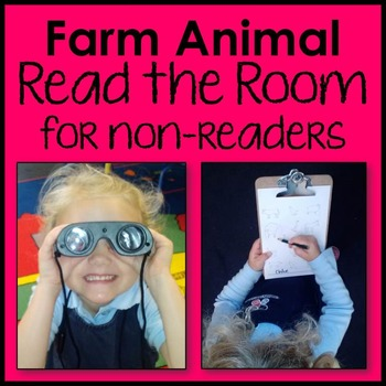 Farm Animal Read the Room for Non-Reader Literacy Center