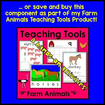 Farm Animal Ten Frame Math Center