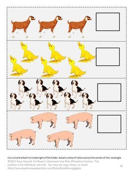 Farm Animals Math and Literacy File Folder Games Summer School Special Education