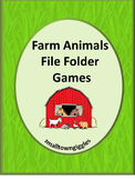 Farm Animals File Folder Games