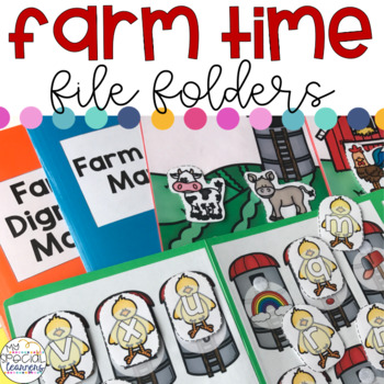 Farm Animals File Folders for Special Education
