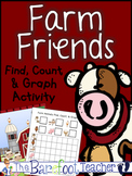 Farm Animals Find, Count, & Graph Math Activity {Graphing} 6 Different Ones