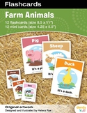 Farm Animals Flashcards / Set of 12 / Printable