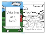Farm Animals Informative Reader plus Puppets, Vocabulary