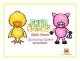 spanish farm animals slide show review game