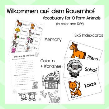 Farm Animals - German - Deutsch - Willkommen auf dem Bauernhof