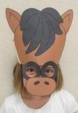 Farm Animals Horse Sentence Strip Hat Mask