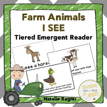 Farm Animals I SEE Tiered Emergent Readers