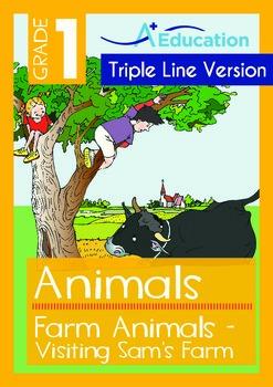 Farm Animals (I): Visiting Sam's Farm (with 'Triple-Track Writing Lines')