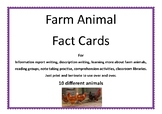 Farm Animals Information Cards.